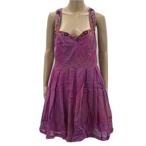 Free People Juice Comb Dress Cotton Silk Tank